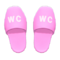 Restroom Slippers (Pink) NH Icon.png