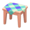 Wooden Mini Table (Pink Wood - Blue) NH Icon.png