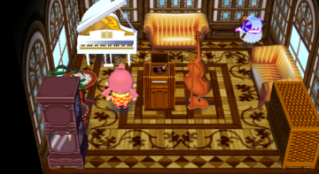 Interior of Baabara's house in Animal Crossing: City Folk