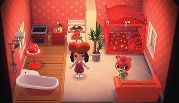 Interior of Cheri's house in Animal Crossing: New Horizons