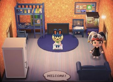 Interior of Pippy's house in Animal Crossing: New Horizons