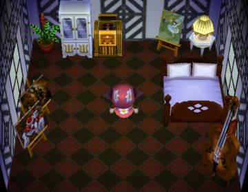Interior of Ursala's house in Animal Crossing