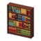 Wooden Bookshelf (Dark Brown) NH Icon.png