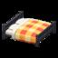 Wooden Double Bed (Black - Orange)
