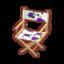 Floral Chair (Purple Pansies)