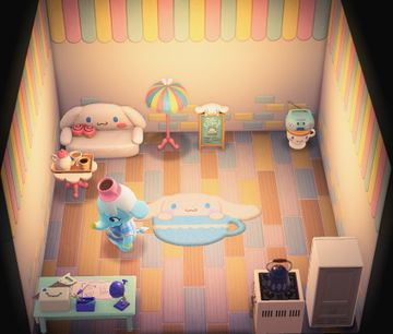 Interior of Chai's house in Animal Crossing: New Horizons
