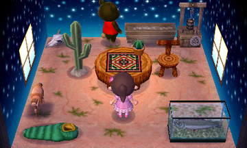 Interior of Grizzly's house in Animal Crossing: New Leaf