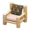 Log Chair (White Wood - Bears) NH Icon.png