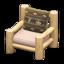 Log Chair (White Wood - Bears)