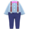 Suspender Outfit (Gray) NH Icon.png