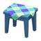 Wooden Mini Table (Blue - Blue) NH Icon.png
