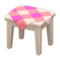 Wooden Mini Table (White Wood - Pink) NH Icon.png