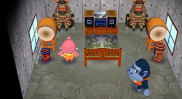 Interior of Peewee's house in Animal Crossing: City Folk