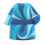 Marble-Print Dress (Blue) NH Icon.png