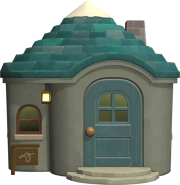 Exterior of Monty's house in Animal Crossing: New Horizons