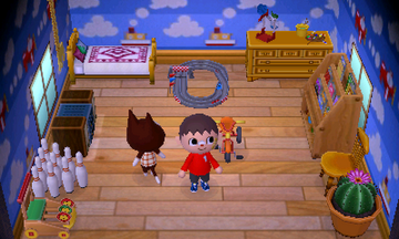 Interior of Rudy's house in Animal Crossing: New Leaf