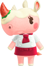 Merengue, an Animal Crossing villager.