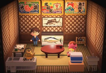 Interior of Freckles's house in Animal Crossing: New Horizons