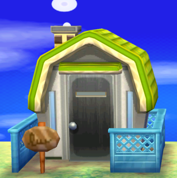 Exterior of Sprocket's house in Animal Crossing: New Leaf