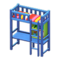 Loft Bed with Desk (Blue - Red Stripes) NH Icon.png
