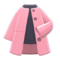 Collarless Coat (Pink) NH Icon.png