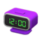 Digital Alarm Clock (Purple) NH Icon.png
