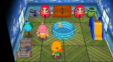 Interior of Joey's house in Animal Crossing: City Folk