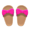 Ribbon Sandals (Berry Red) NH Icon.png
