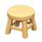 Wooden Stool (Light Wood - None) NH Icon.png