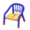 Baby Chair (Blue - Butterfly) NH Icon.png