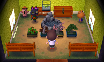 Interior of Wart Jr.'s house in Animal Crossing: New Leaf