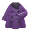 Pleather Trench Coat (Purple) NH Icon.png