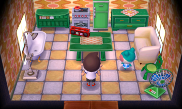 Interior of Lily's house in Animal Crossing: New Leaf