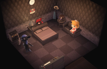 Interior of Roscoe's house in Animal Crossing: New Horizons