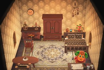 Interior of Timbra's house in Animal Crossing: New Horizons