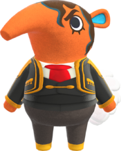Olaf, an Animal Crossing villager.