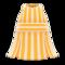 Striped Halter Dress (Orange) NH Icon.png