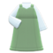 Sweetheart Dress (Moss Green) NH Icon.png