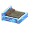 Frozen Bed (Ice Blue - Dark Brown) NH Icon.png