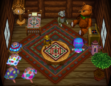 Interior of Ava's house in Animal Crossing