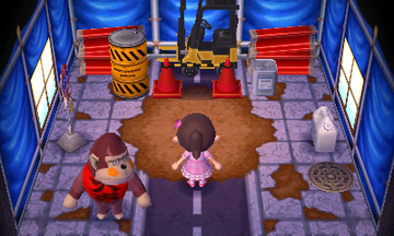 Interior of Boyd's house in Animal Crossing: New Leaf