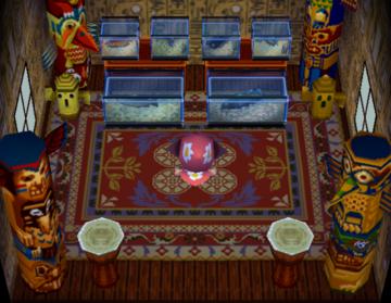 Interior of Kody's house in Animal Crossing