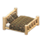 Log Bed (White Wood - Bears) NH Icon.png