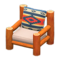 Log Chair (Orange Wood - Geometric Print) NH Icon.png