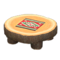 Log Round Table (Dark Wood - Southwestern Flair) NH Icon.png