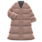 Long Down Coat (Beige) NH Icon.png