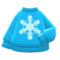Snowflake Sweater (Light Blue) NH Icon.png