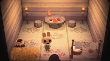Interior of Coco's house in Animal Crossing: New Horizons