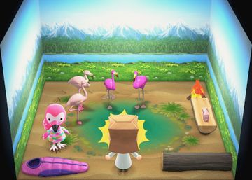 Interior of Flora's house in Animal Crossing: New Horizons