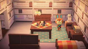 Interior of Claude's house in Animal Crossing: New Horizons